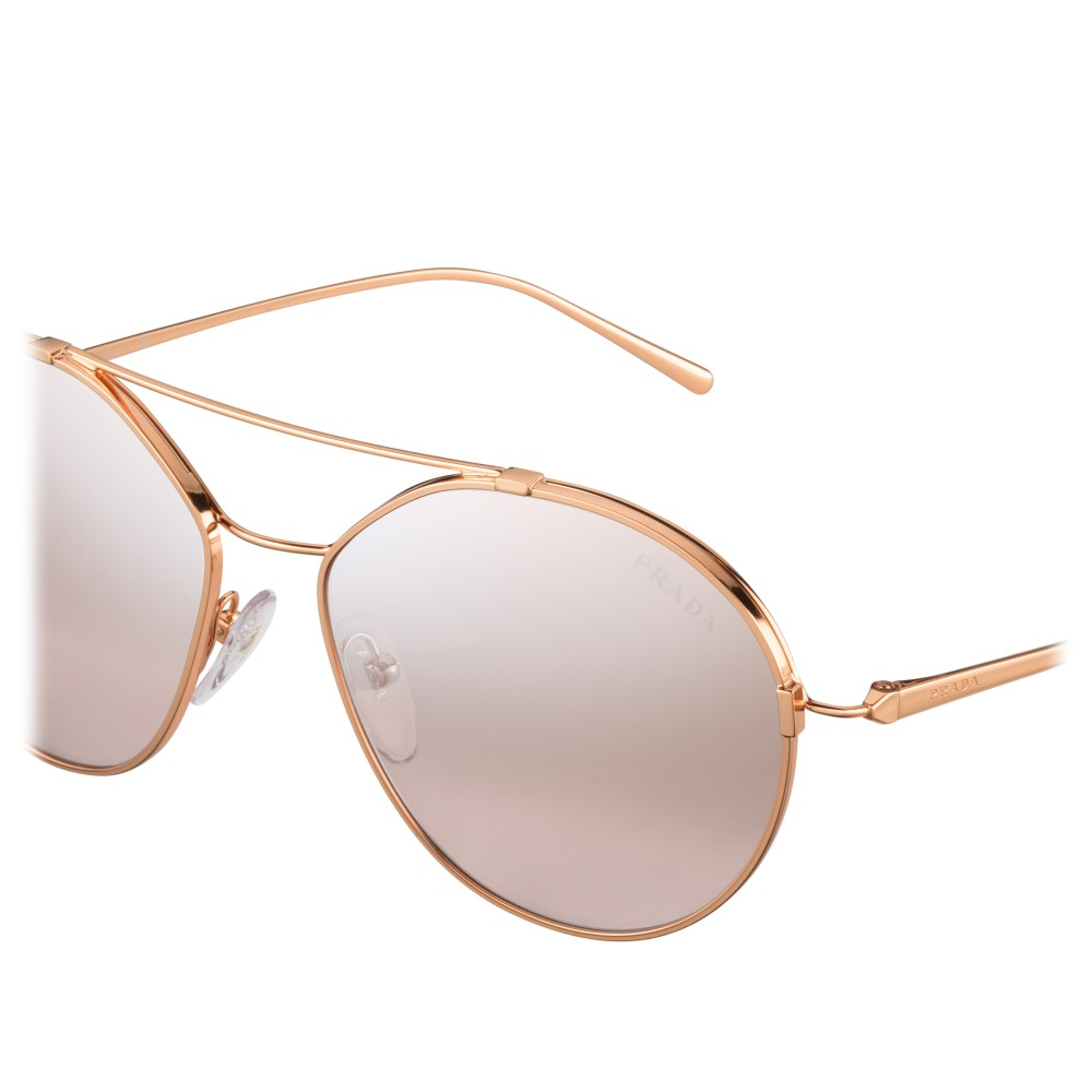 908c07797b67 ... Prada - Prada Eyewear Collection - Rose Gold Aviator Sunglasses - Prada  Collection - Sunglasses ...