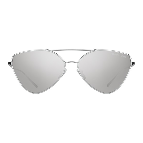 fc53c484b98 Prada - Prada Collection - Steel Cat Eye Flat Sunglasses - Prada Collection  - Sunglasses -