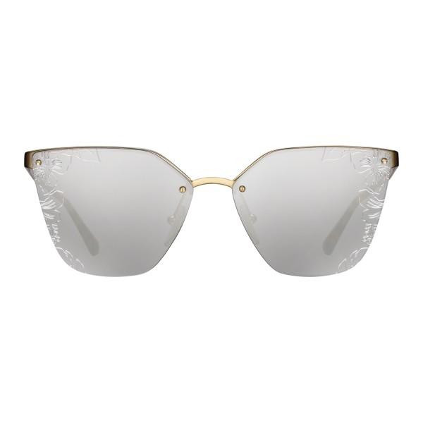 c87dea6e07 Prada - Prada Cinéma - White Gold Irregular Cat Eye Sunglasses - Prada  Cinéma Collection -
