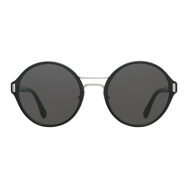 b72acaa6fd Prada - Prada Mod - Black and Steel Round Sunglasses - Prada Mod Collection  - Sunglasses