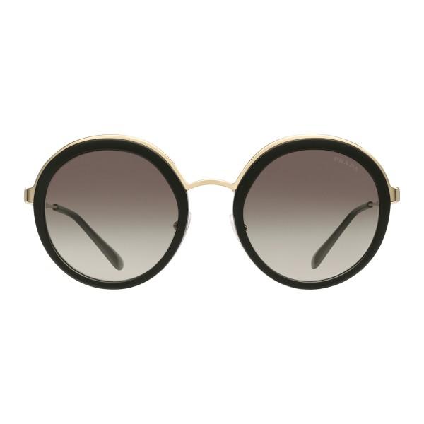 b64f927016a1 Prada - Prada Cinéma - Black Round Sunglasses - Prada Cinéma Collection -  Sunglasses - Prada