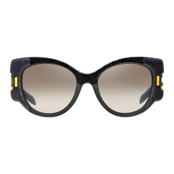 c81e1330cd Prada - Prada Tapestry - Black Velvet Cat Eye Sunglasses - Prada Tapestry  Collection - Sunglasses