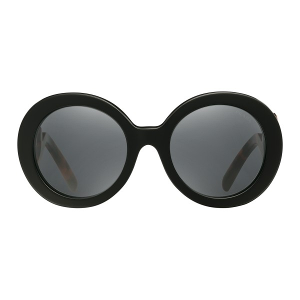 a8e9f4504ef Prada - Prada Minimal Baroque - Black Round Sunglasses - Prada Collection -  Sunglasses - Prada