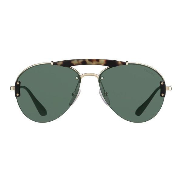 35eba0215c Prada - Prada Collection - Gold and Tortoise Aviator Top Bar Sunglasses - Prada  Collection -