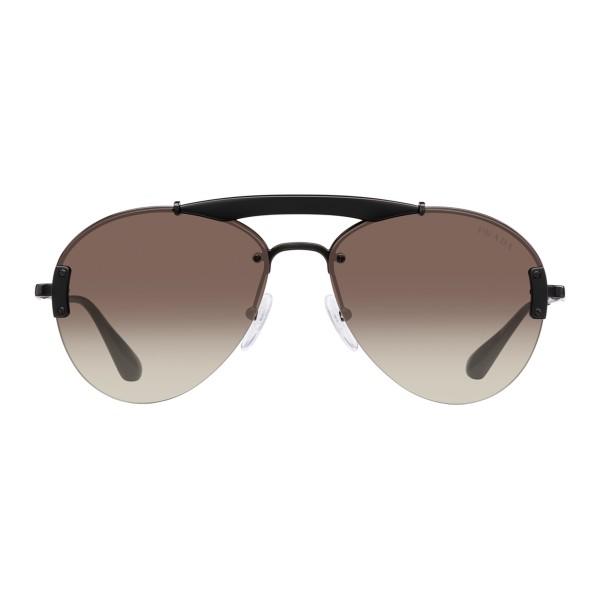 8f70310e3b Prada - Prada Collection - Black Aviator Top Bar Sunglasses - Prada  Collection - Sunglasses -