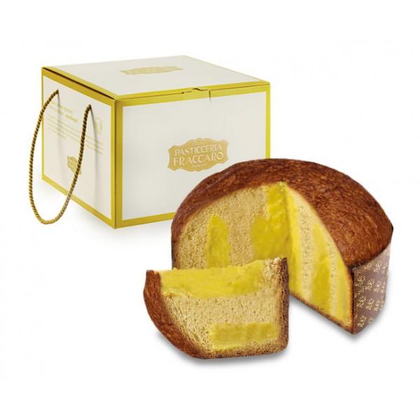 Pasticceria Fraccaro - Panettone Crema Limoncello - Gold Box - Panettone Artigianale - Fraccaro Spumadoro