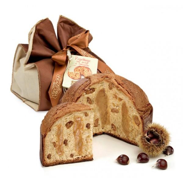 Pasticceria Fraccaro - Panettone with Marron Glacé - Elegance Wrapping - Artisan Panettone - Fraccaro Spumadoro