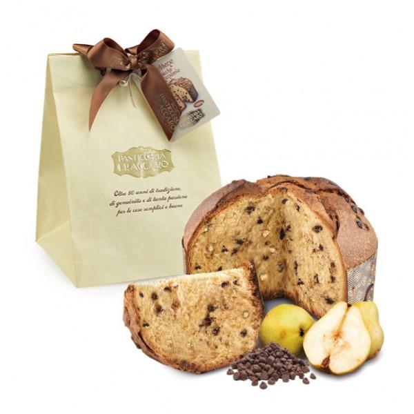 Pasticceria Fraccaro - Panettone Cioccolato e Pera - Paper Bag - Panettone Artigianale - Fraccaro Spumadoro