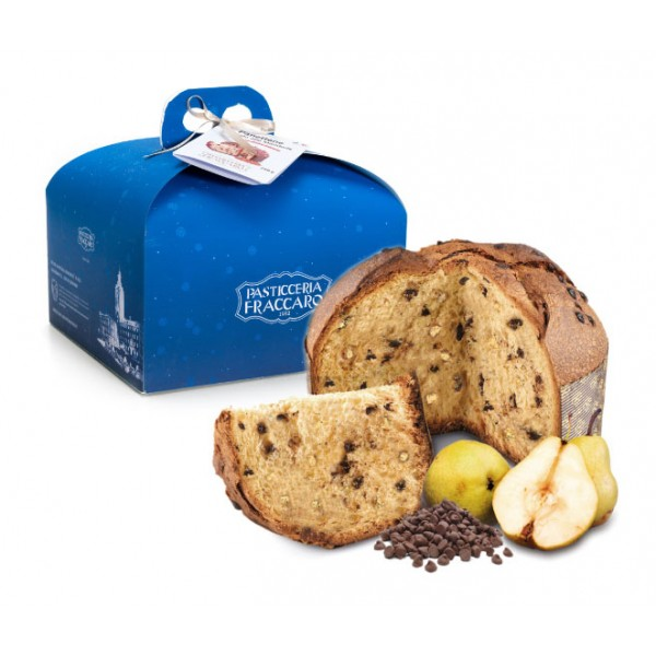 Pasticceria Fraccaro - Chocolate and Pear Panettone - Case Line - Artisan Panettone - Fraccaro Spumadoro