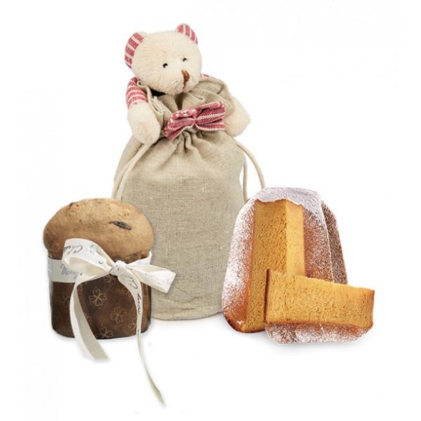 Pasticceria Fraccaro - Small Panettone Classic - Gorgeous Bear - Artisan Panettone - Fraccaro Spumadoro