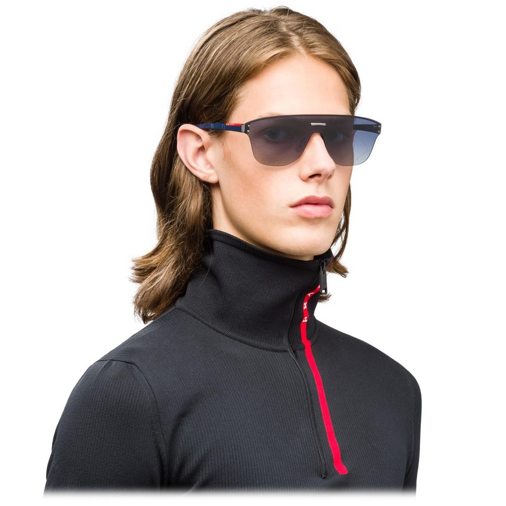 bcc254423fb6 ... Prada - Prada Linea Rossa Stubb - Blue Gradient Mask Sunglasses - Prada  Stubb Collection ...