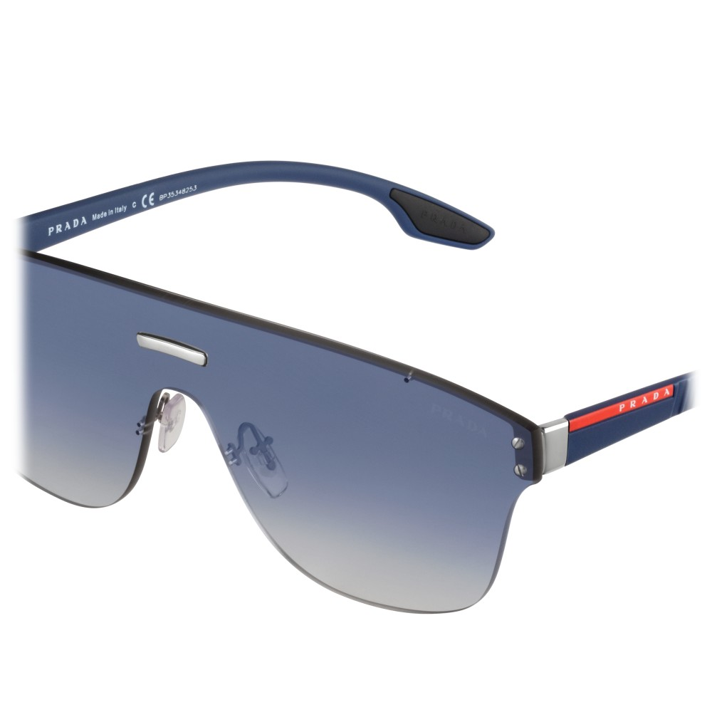45f9a0b5e727 ... Prada - Prada Linea Rossa Stubb - Blue Gradient Mask Sunglasses - Prada  Stubb Collection -