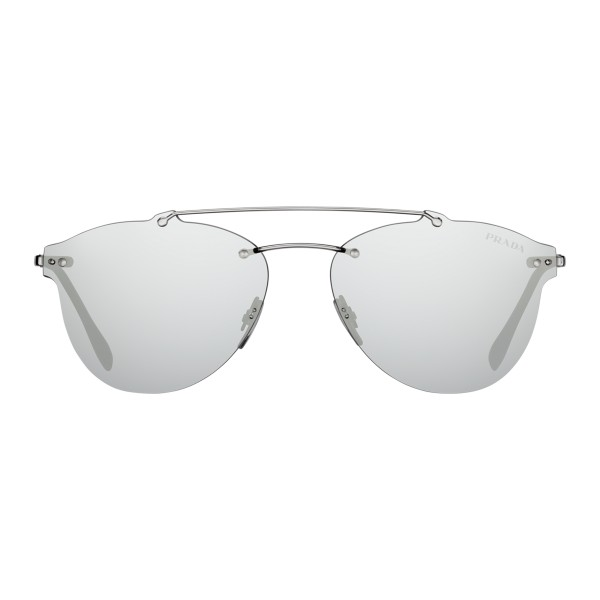 5b38d08cfe3fd Prada - Prada Linea Rossa Constellation - Silver Aviator Sunglasses - Prada  Collection - Sunglasses -