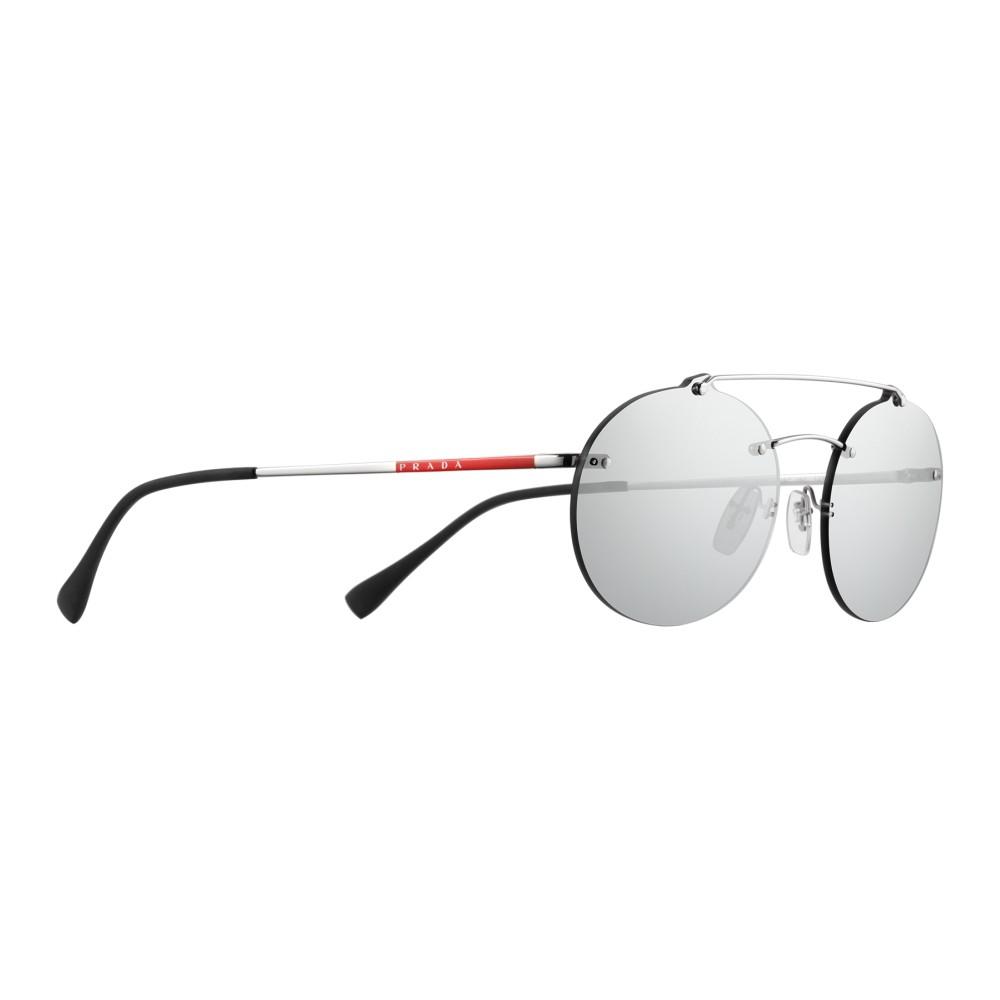 edae1061b4 Prada - Prada Linea Rossa Constellation - Silver Oval Sunglasses - Prada  Collection - Sunglasses ...