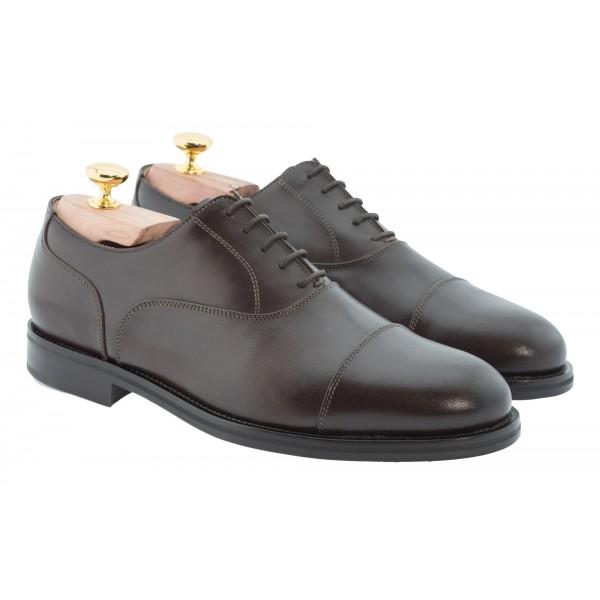 Bottega Senatore - Aufidio - Oxford - Francesina - Scarpe Artigianali Italiane Uomo - Scarpa in Pelle di Alta Qualità
