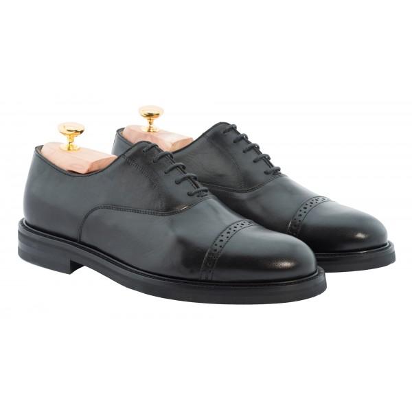 Bottega Senatore - Arcario - Oxford - Francesina - Scarpe Artigianali Italiane Uomo - Scarpa in Pelle di Alta Qualità