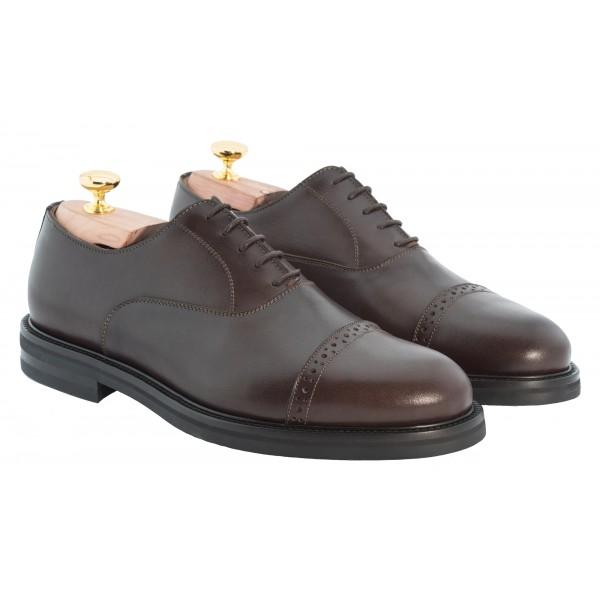 Bottega Senatore - Aponio - Oxford - Francesina - Scarpe Artigianali Italiane Uomo - Scarpa in Pelle di Alta Qualità