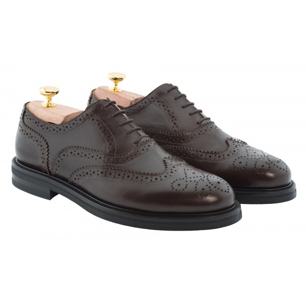 Bottega Senatore - Anneo - Oxford - Francesina - Italian Handmade Man Shoes - High Quality Leather Shoes