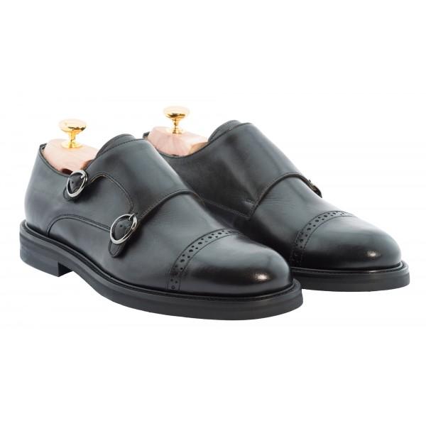 Bottega Senatore - Duilio - Double Monk Straps - Scarpe Artigianali Italiane Uomo - Scarpa in Pelle di Alta Qualità