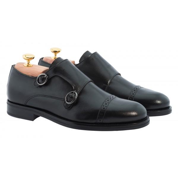 Bottega Senatore - Daulo - Double Monk Straps - Scarpe Artigianali Italiane Uomo - Scarpa in Pelle di Alta Qualità