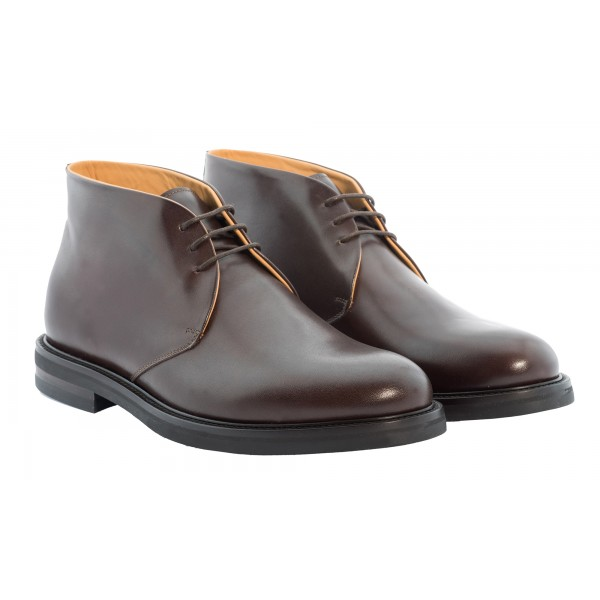 Bottega Senatore - Marzio - Ankle Boot - Scarpe Artigianali Italiane Uomo - Scarpa in Pelle di Alta Qualità