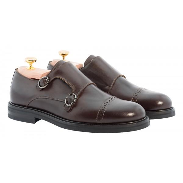 Bottega Senatore - Druso - Double Monk Straps - Scarpe Artigianali Italiane Uomo - Scarpa in Pelle di Alta Qualità