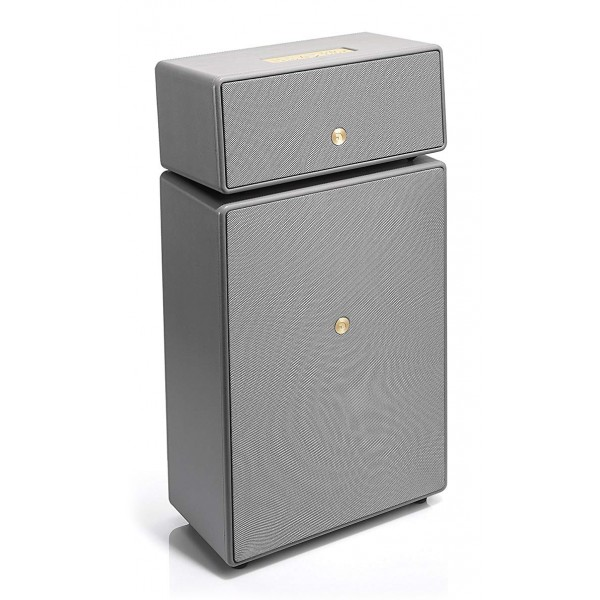 Audio Pro - Drumfire - Grey - Multiroom Speaker - Digital Amplifier - WiFi, Bluetooth 4.0