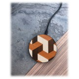 Wood'd - Tumble - Wireless Wooden Charging Pad with USB Cable - Desktop Charger - iPhone - Apple - Samsung
