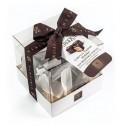 Vincente Delicacies - Cubetti di Torrone Morbido alla Mandorla di Sicilia Ricoperti di Cioccolato Fondente Extra 70% - Baroque