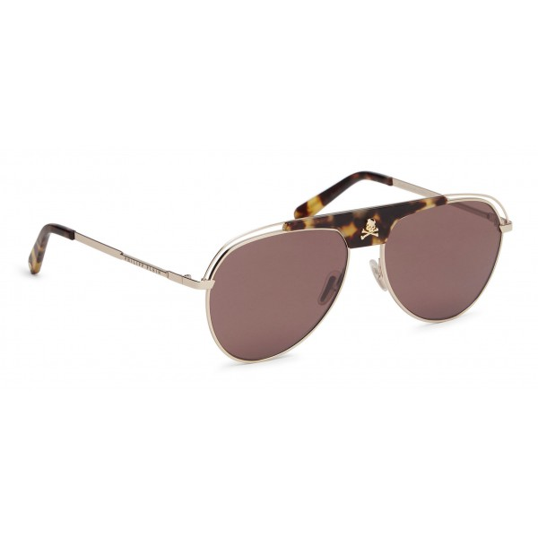 Philipp Plein - Charlie Basic Collection - Oro, Marrone e Tartaruga - Occhiali da Sole - Philipp Plein Eyewear