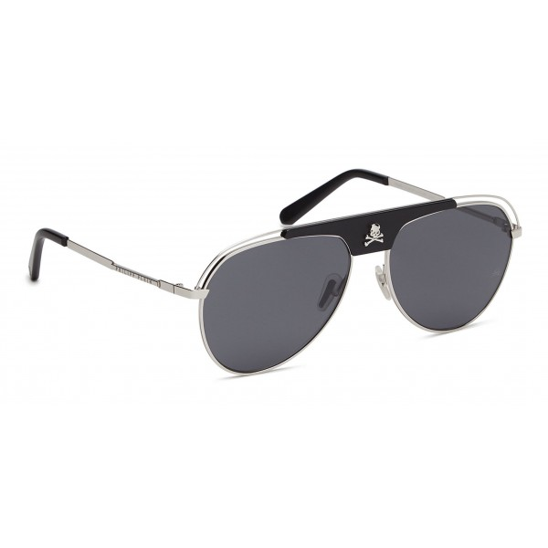 Philipp Plein - Charlie Basic Collection - Nero e Palladio - Occhiali da Sole - Philipp Plein Eyewear