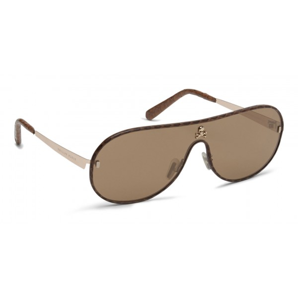 Philipp Plein - Target Leather Collection - Gold Brown - Sunglasses - Philipp Plein Eyewear