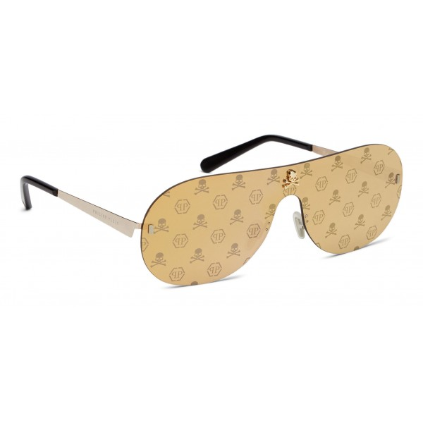 Philipp Plein - Target Monogram Collection - Oro e Nero - Occhiali da Sole - Philipp Plein Eyewear