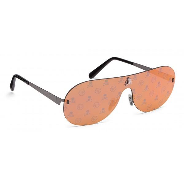 Philipp Plein - Target Monogram Collection - Metallo e Rosso Specchiato - Occhiali da Sole - Philipp Plein Eyewear