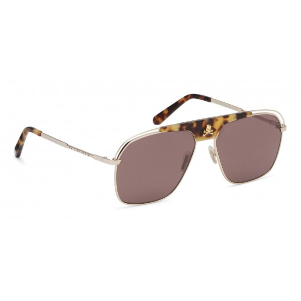 Philipp Plein - Noah Basic Collection - Gold Brown Turtle - Sunglasses - Philipp Plein Eyewear