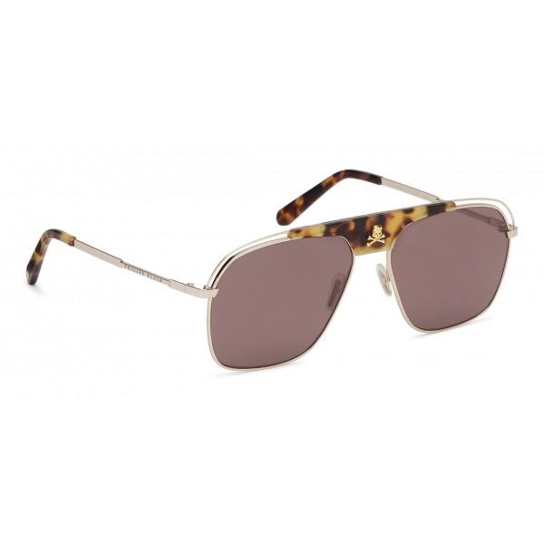Philipp Plein Noah Basic Collection Gold Brown Turtle Sunglasses Philipp Plein Eyewear Avvenice