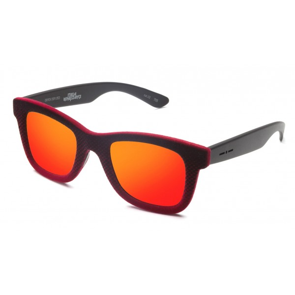 Italia Independent - Velvet 0090V - Gianluca Vacchi - Black Velvet - Orange - 009.053 - Sunglasses - Gianluca Vacchi Official