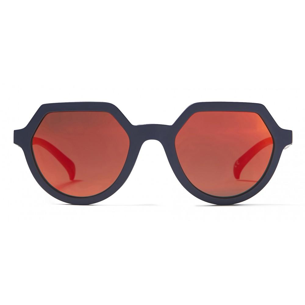 19d70ba076dd4 ... Italia Independent - Adidas AOR018 CI8318 - Adidas Official - Blue  Orange - Sunglasses - Italia