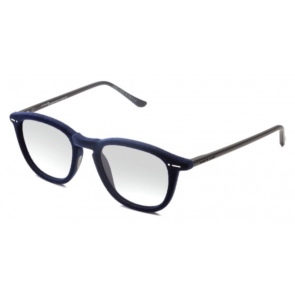 Italia Independent - I-I Mod Marlon 0701 Velvet - Blue Gray - 0701V.021.000 - Sunglasses - Italy Independent Eyewear