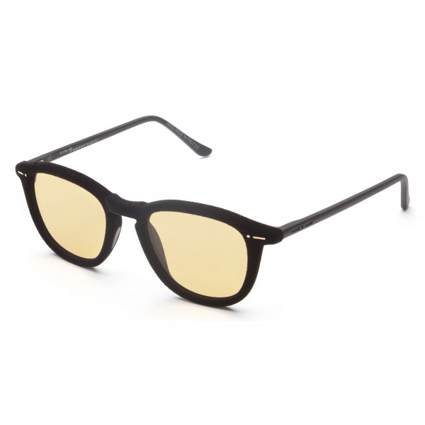 Italia Independent - I-I Mod Marlon 0701 Velvet - Nero Arancione - 0701V.009.000 - Occhiali da Sole - Italia Independent Eyewear