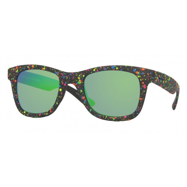 Italia Independent - I-Plastik 0090DP Drops - Black Green - 0090DP.009.149 - Sunglasses - Italy Independent Eyewear