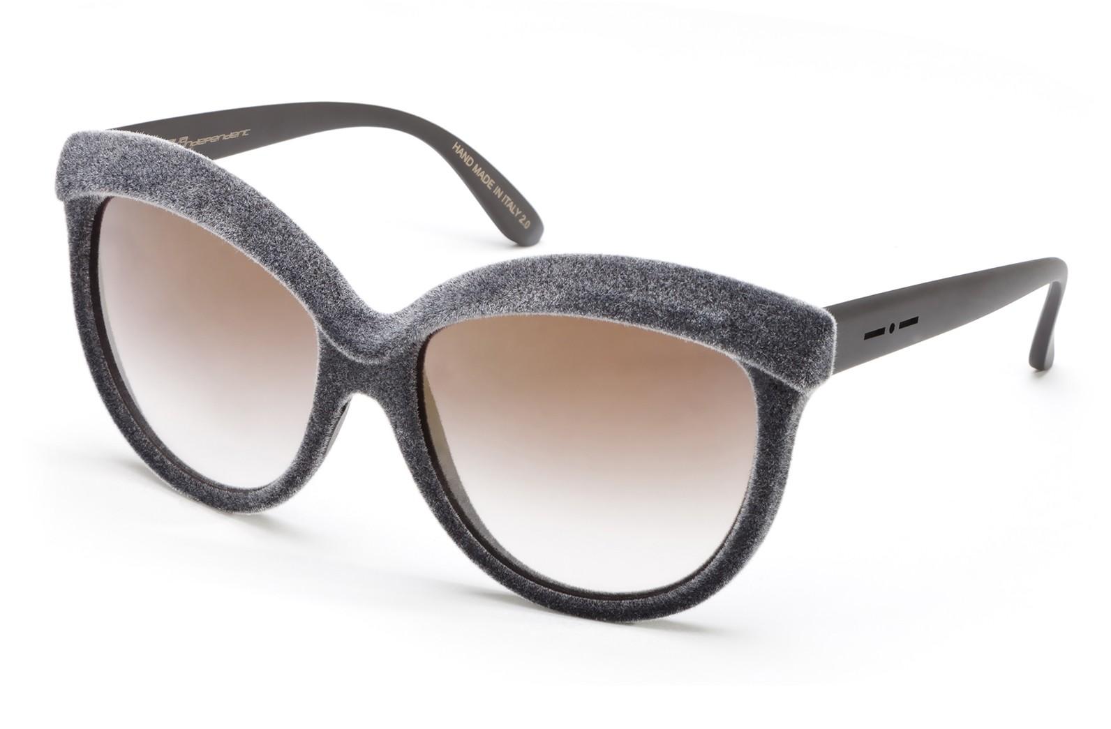 3b9987d407f1 Italia Independent - I-Plastik 0092V Velvet - Grey - 0092V.071.CNG -  Sunglasses - Italy Independent Eyewear - Avvenice