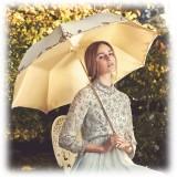 Pasotti Ombrelli 1956 - 177 Plat-300 P5 - Woman Ivory Umbrella Decorated - Luxury Artisan High Quality Umbrella