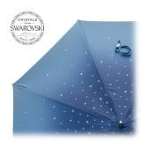 Pasotti Ombrelli 1956 - 185N 21284-17 W68PB - Blue Swarovski® Umbrella - Luxury Artisan High Quality Umbrella
