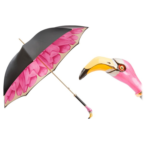 Pasotti Ombrelli 1956 - 189 21065-30 K9 - Flamingo Umbrella - Luxury Artisan High Quality Umbrella