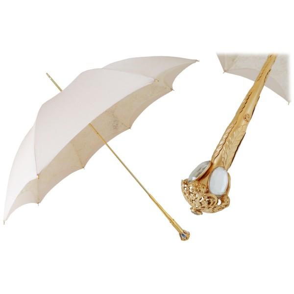 Pasotti Ombrelli 1956 - 386OR Serge-65 E11 - Parasole Ecru Elegantissimo - Ombrello Artigianale di Alta Qualità Luxury