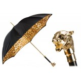 Pasotti Ombrelli 1956 - 189 52417-12 W35 - Spotted Umbrella with Golden Tiger - Luxury Artisan High Quality Umbrella