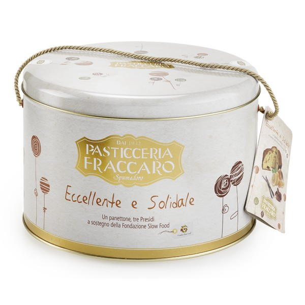 Pasticceria Fraccaro - Slow Food - Artisan Panettone with Dates, Candies and Vanilla - Excellences Line - Fraccaro Spumadoro