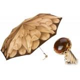 Pasotti Ombrelli 1956 - 257 21065-40 A29 - Beige Petal Folding Umbrella - Luxury Artisan High Quality Umbrella