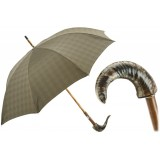 Pasotti Ombrelli 1956 - 142 Milford-6 CM - Umbrella with Mutton Horn - Ovis Aries - Luxury Artisan High Quality Umbrella